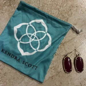 Kendra Scott Maroon Jade Elle Earrings